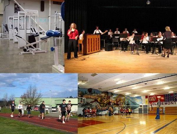 Hình ảnh học tham gia hoạt động thể thao, nghệ thuật tại các trường THPT của Saanich