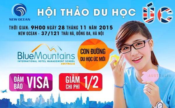 HỘI THẢO DU HỌC ÚC CÙNG TRƯỜNG BLUE MOUNTAINS