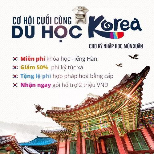 Du học Hàn Quốc kỳ mùa xuân 2016