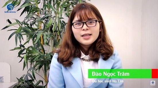 Đào Ngọc Trâm trong ngày nhận visa du học Hà Lan