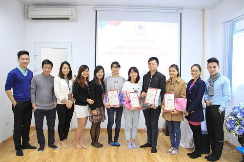 Buổi gặp gỡ đại diện các bạn học sinh từng nhận học bổng của Quỹ khuyến học New Ocean