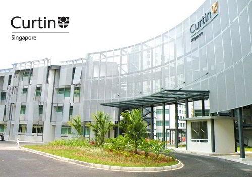 Hình ảnh một góc khuôn viên trường đại học Curtin – Singapore.