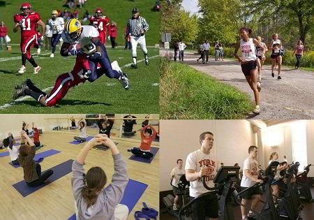 Hình ảnh sinh viên trường Đại học York trong các hoạt động thể dục/thể thao của trường