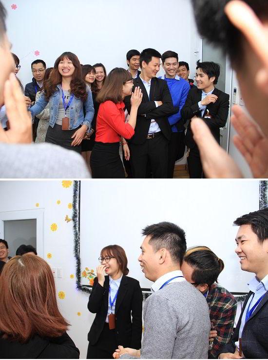 Phần thi đấu sôi nổi của đội Minh Hoàng và Tố Loan vô cùng vui nhộn và hài hước.