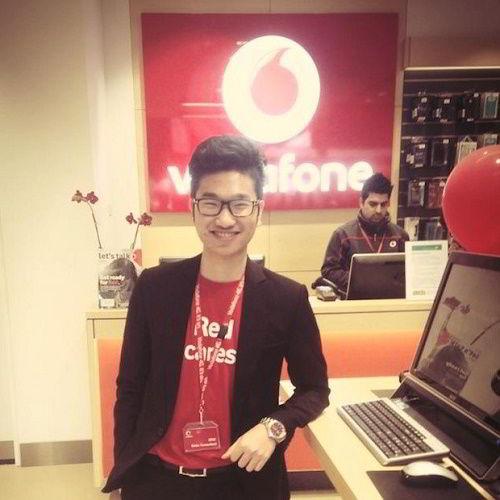 Hình ảnh của Hà Ngọc Anh khi còn làm tại Vodafone