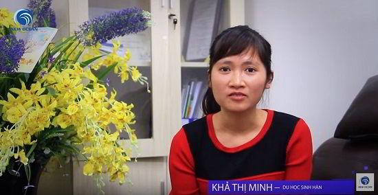 Khả Thị Minh chia sẻ cảm xúc khi nhận visa du học Hàn Quốc