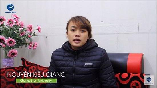 Visa du học Úc của Nguyễn Kiều Giang trường Charles Sturt