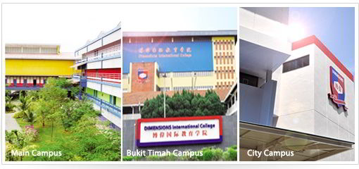 3 campus Trường Dimensions Singapore