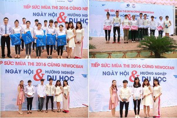 Nhiều phần quà hấp dẫn được trao cho các bạn học sinh THPT Thanh Bình