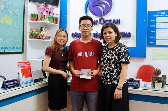 Nguyễn Gia Khánh nhận visa du học Mỹ