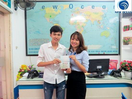 Hoàng Văn Chiến nhận Visa du học Canada