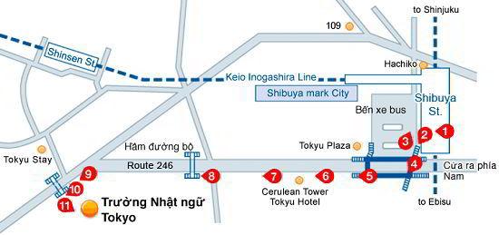 Vị trí trường nhật ngữ Naganuma Tokyo