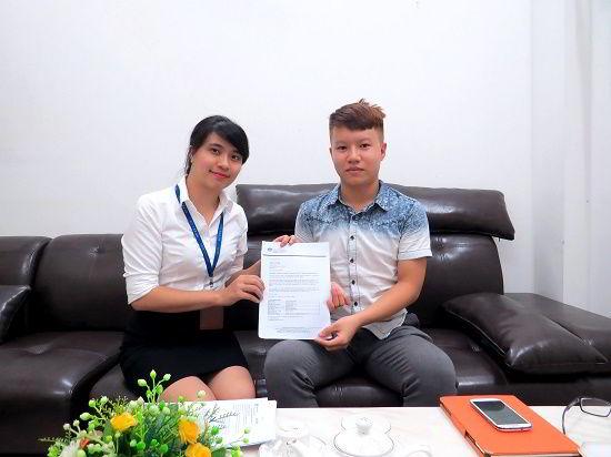 Dương Quốc Đạt nhận visa du học Úc