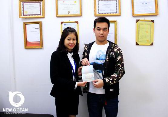 Chúc mừng Bùi Trọng Phú nhận visa du học Trung Quốc