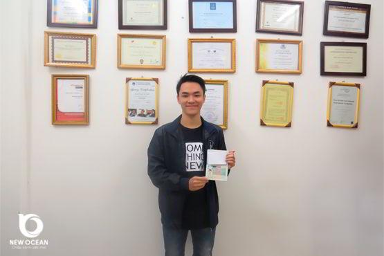 Nguyễn Đình Thành nhận visa du học Hà Lan