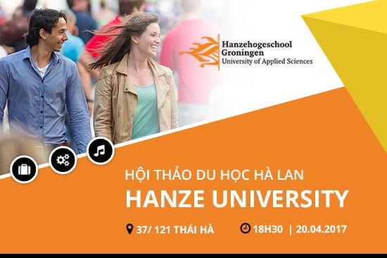 Hội thảo DU HỌC HÀ LAN gặp gỡ trường Đại học Hanze