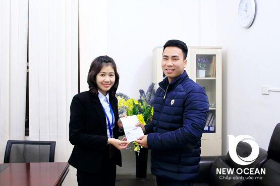 Chúc mừng bạn Lê Văn Minh nhận visa du học Nhật Bản kỳ tháng 4 - NEW OCEAN