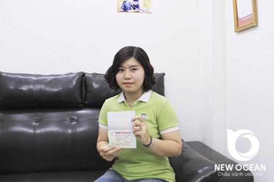 Trần Hương Linh nhận visa CES Canada