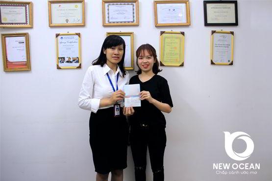 Chúc mừng Phạm Mai Lan nhận visa du học Hàn Quốc