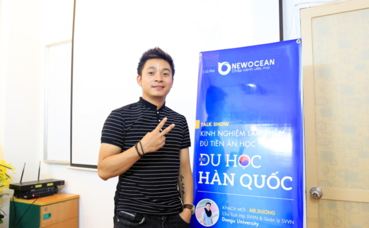 Phạm Công Dương tại New Ocean. Quản lý du học sinh Việt Nam tại văn phòng Quan hệ Quốc tế Daegu University