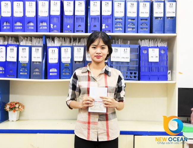 Hot Girl:Nguyễn Thị Ngân nhận visa du học Canada theo chương trình CES tại New Ocean.