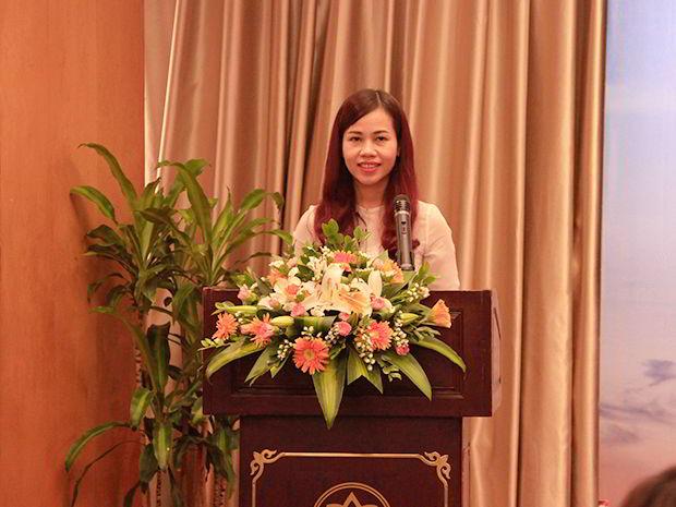 Bà Lê Hoàng Lan - Giám đốc New Ocean phát biểu