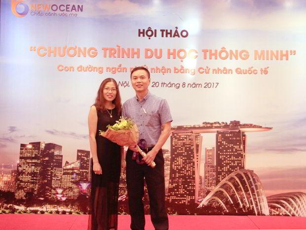 Ông Lê Tân - Phụ huynh cháu Lê Phương Mai dự kiến sẽ du học chương trình vào tháng 9 tới