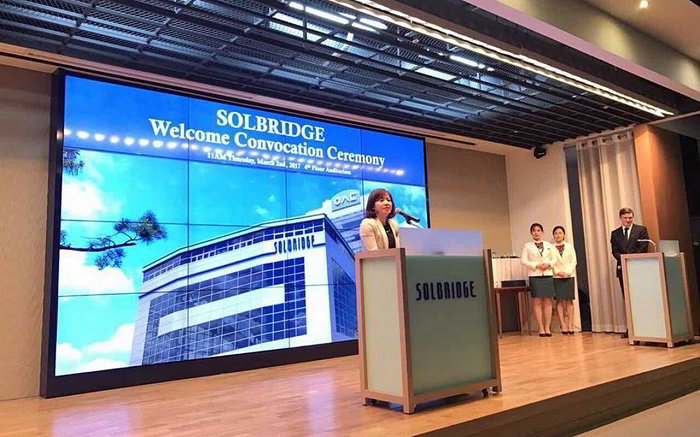 gặp gỡ Trường Đại học Kinh doanh quốc tế SOLBRIDGE, Hàn Quốc