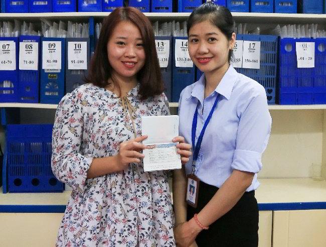 Chúc mừng em Hoàng Thị Hường visa du học Hàn Quốc Trường Đại Học ChungAng