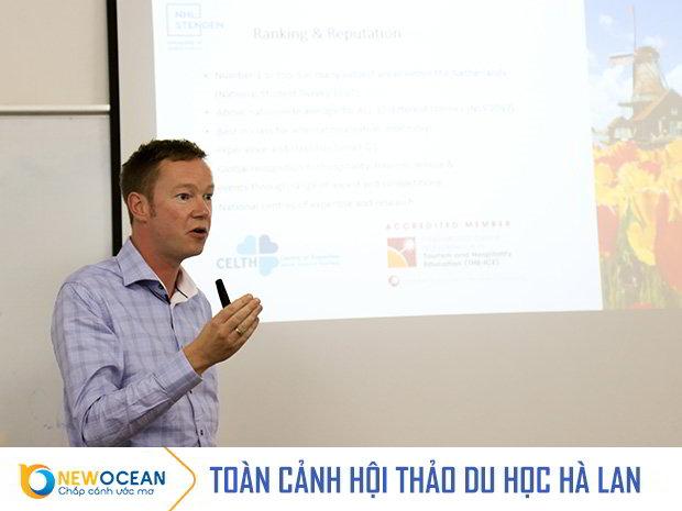 Mr. Jasper Hofman – International recruitment Manager – Trường Stenden University of Applied Sciences