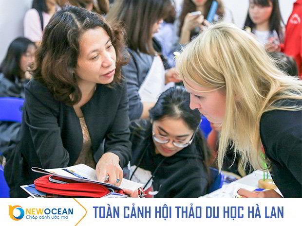 Học sinh hỏi đáp Ms. Ekaterina Gurchenkova- Enrolment Officer Master Programmes – Trường Hanze University of Applied Sciences