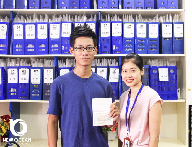 Chúc mừng em Vũ Đình Thắng nhận visa du học Trung Quốc kỳ tháng 9 -2017