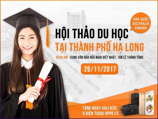 Hội thảo Du học Quốc Tế tại TP. Hạ Long - Quảng Ninh 2017