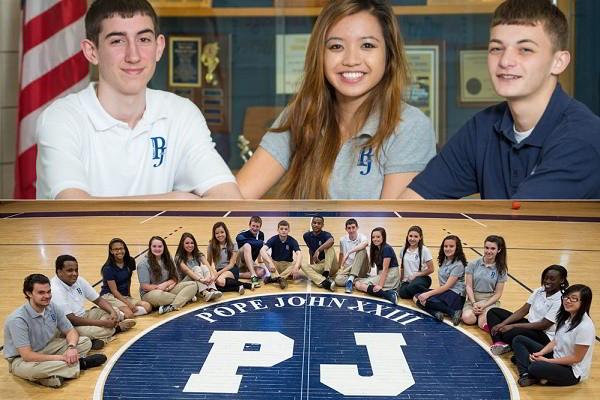 Pope John XXIII High school đón nhận học sinh từ lớp 9 cho tới lớp 12