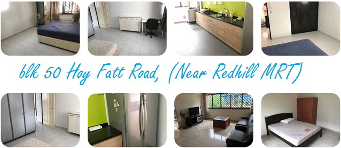 50 Hoy fatt road (Redhill mrt) Address: blk 50 Hoy Fatt Road, (Near Redhill MRT)