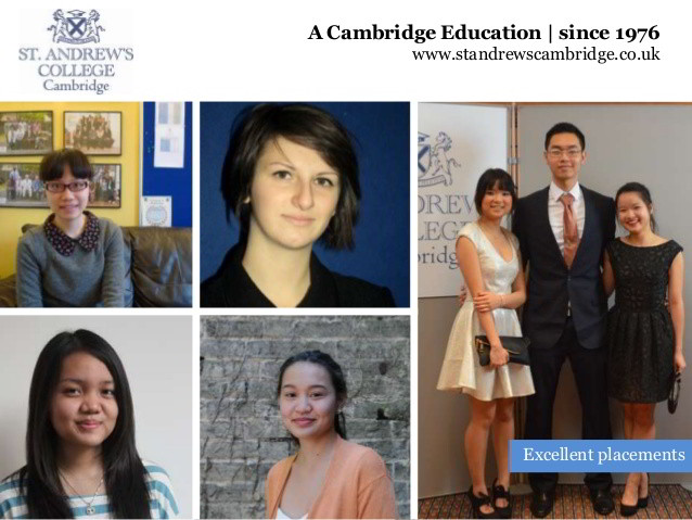 Gặp gỡ đại diện trường St. Andrew's College, Cambridge, Anh Quốc