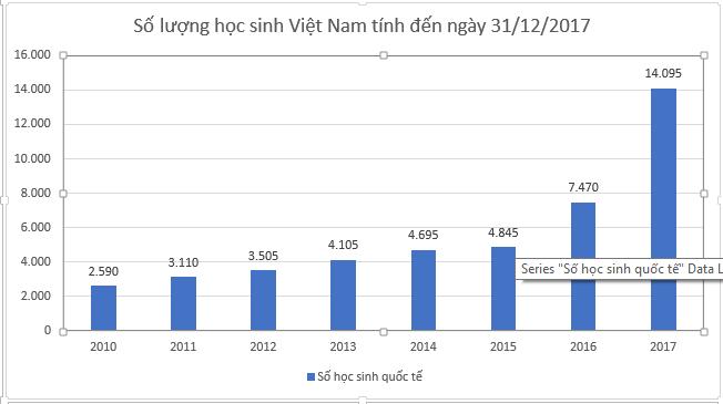 Thống kế visa CES Việt nam năm 2017