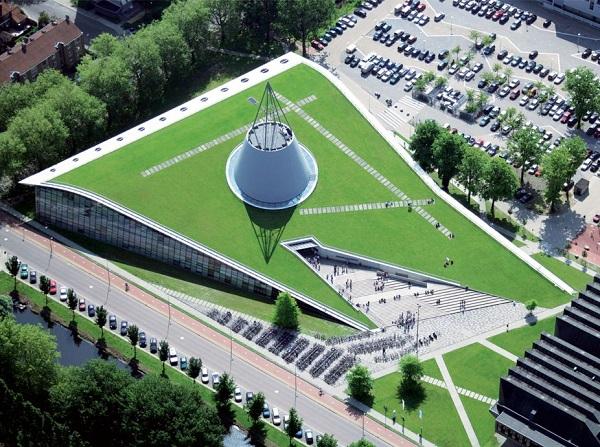 Thư viện hiện đại của trường Đại học Công nghệ Delft