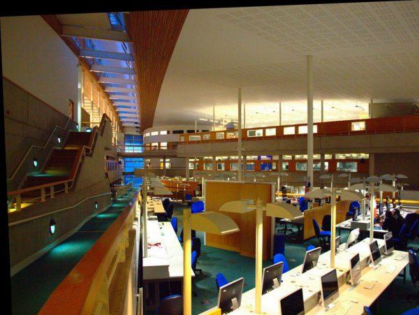 Phòng tự học sinh viên của trường đại học Sunderland