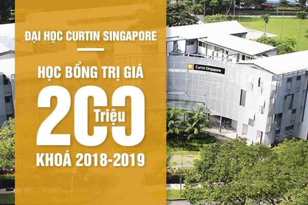 Học bổng trường Curtin Singapore khóa 2018 - 2019
