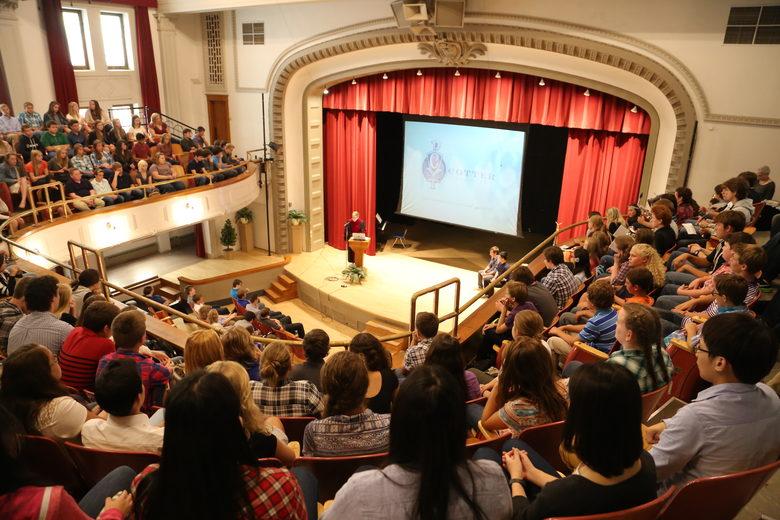 St. Cecilia Theatre - nơi diễn ra các hoạt động văn hóa của trường