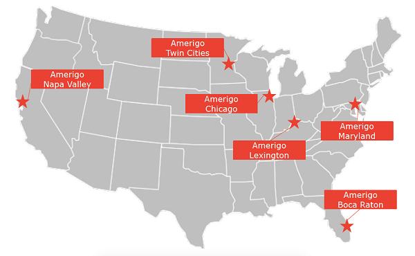 Hệ thống các trường của tổ chức giáo dục phân bổ đồng đều ở khắp nước Mỹ