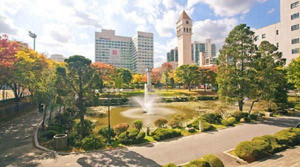 Khuôn viên tuyệt đẹp của trường đại học Sejong