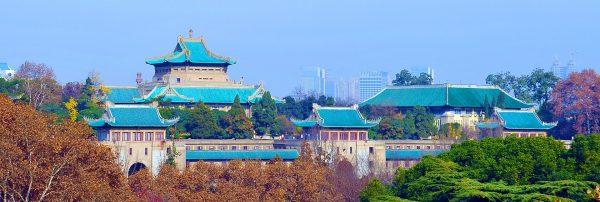 Khung cảnh tuyệt đẹp của trường đại học Vũ Hán