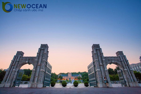 1 góc khuôn viên trường Đại học Hàn Quốc