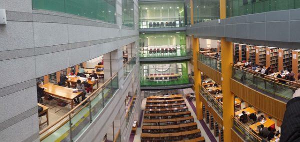 Một góc thư viện và phòng tự học của trường đại học Dongguk