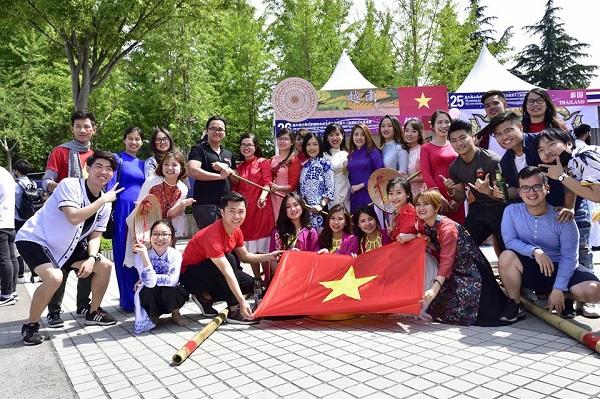 Cộng đồng du học sinh Việt Nam tại trường Đại học Thượng Hải rất đông