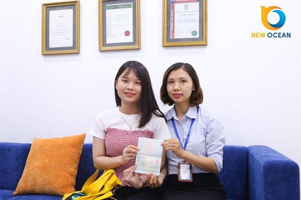 Đào Thị Thu Hiền nhận Visa du học Trung Quốc từ New Ocean