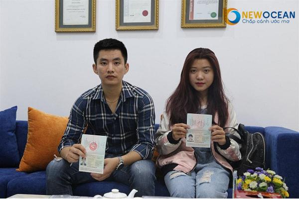 An Trọng Cương và Thu Trà cùng lúc nhận Visa du học Trung Quốc