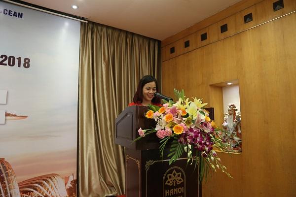 Bà Hoàng Thị Lan – Giám đốc New Ocean phát biểu trước Ngày hội
